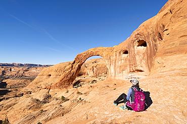 Corona Arch and Bootlegger Canyon, Moab, Utah, United States of America, North America