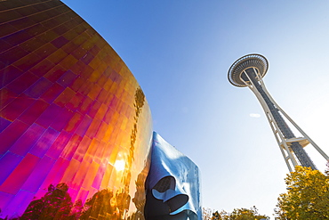 MoPoP Museum and Space Needle, Seattle, Washington State, United States of America, North America