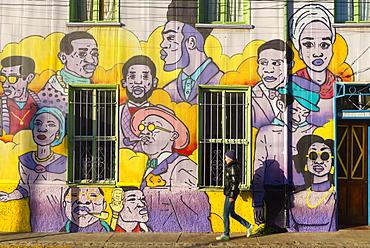 Street art of Valparaiso, Chile, South America