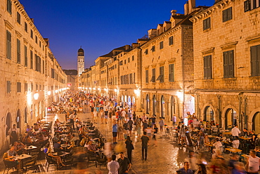 Evening in the old town, Dubrovnik, Croatia, Europe