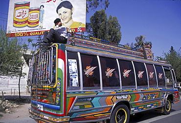 Transport, pakistan. Islamabad. Public buses