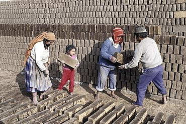Brick-making, ecuadorA brickwork co-operative