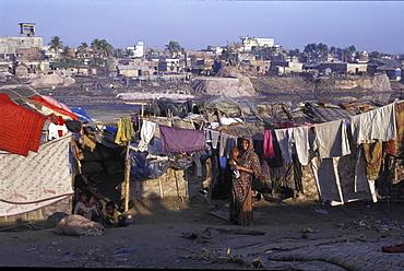 Slums, bangladesh. Dhaka slums. Women and children