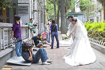 China photographing a wedding in guangzhou, guangdong province