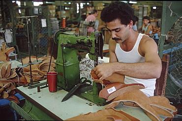 Cuba. Baseball sport gear factory near havana