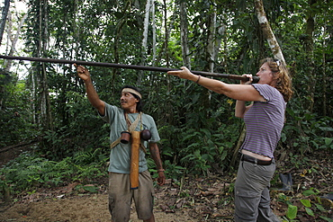 Ecotourism with native Huaorani nation at Yasuni National Park, Amazon, Ecuador, South America