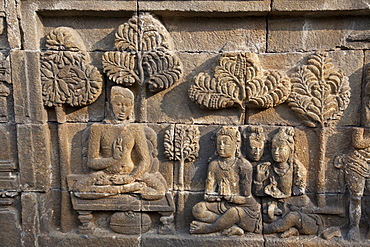 The ancient Borobudur Buddhist Temple, UNESCO World Heritage Site, near Yogyakarta, Java, Indonesia, Southeast Asia, Asia