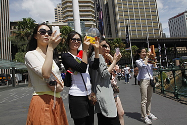 Chinese tourists in Sydney, New South Wales, Australia, Pacific