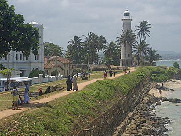 The old town in the Fort area in the historical city of Galle, UNESCO World Heritage Site, Sri Lanka, Asia