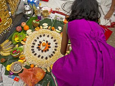 Thaipusam Hindu Tamil festival celebrated in Little India, Singapore, Southeast Asia, Asia