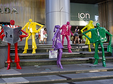 Orchard Road luxury shopping street in Singapore, Southeast Asia, Asia