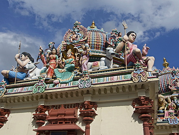 Sri Mariamman Hindu Temple in the old part of Chinatown in Singapore, Southeast Asia, Asia