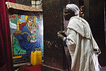 Easter Orthodox Christian religious celebrations in Lalibela, Ethiopia, Africa