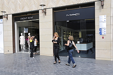 Fashionable shops after reconstruction of Downtown Beirut by Solidere Consortium set up by late Rafik Hariri, Beirut, Lebanon, Middle East