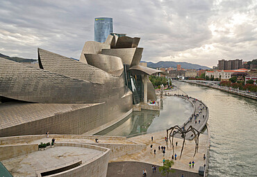 Guggenheim museum in Bilbao, Vizcaya,Basque Country,Euskadi,Spain