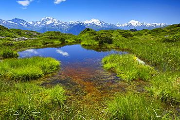 Mischabelgruppe , Matterhorn, Weisshorn, Valais, Swiss Alps, Switzerland, Europe