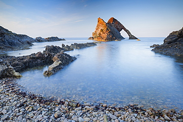 Bow Fiddle Rock, Moray Firth, Moray, Scotland, United Kingdom, Europe - 1189-89