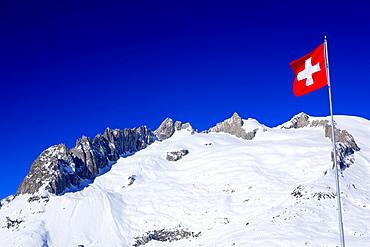 Schweizer Alpen, Fusshoerner, Grosses Fusshorn, 3627m, Aletschgebiet, Schweiz