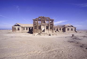 Ruins, namibia. Elizabeth bay. Remains of diamond mining settlement