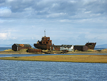 Russia - abandoned ship. Alexandrovsk, sakhalin island, russian far east