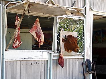 Uzbekistan butchers shop, bukhara