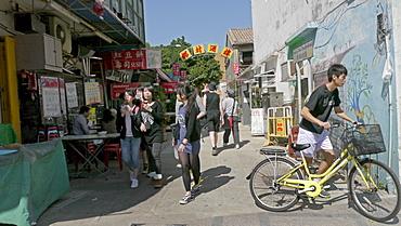 HONG KONG Cheung Chau Island. Tourists from Hong Kng visiting. photo by Sean Sprague