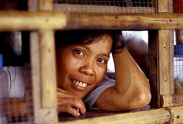 Faces woman in store, upper matemos, mindanao, philippines