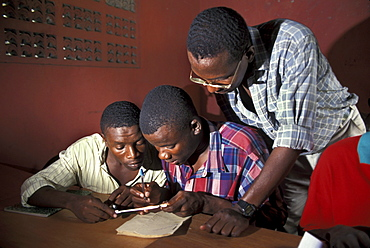 Haiti classroom for trainee mechanic students, -au-prince.