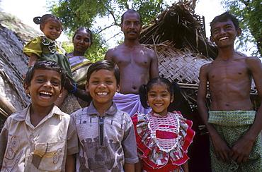 India - slavery family of freed bonded laborers, palani, tamil
