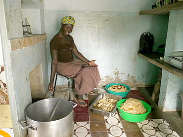 UGANDA St Monica's Tailoring Centre, Gulu. Catering division, making chapatties. PHOTO by Sean Sprague