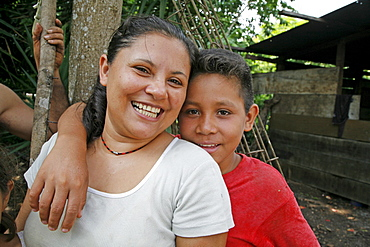 Guatemala santa rita village of returnees, in peten. community fled guatemala during violence of 1980s in times of peace have returned to settle in jungle lowlands. Neli herrera cristian