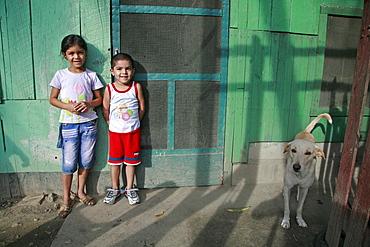 Honduras children. slum barrio of chamelecon, pedro sula