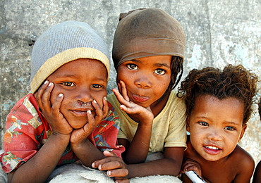 Namibia children living in a slum of rehobeth