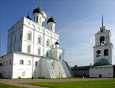 Russia trinity cathedral, constructed in 1699, which stands inside kremlin at pskov