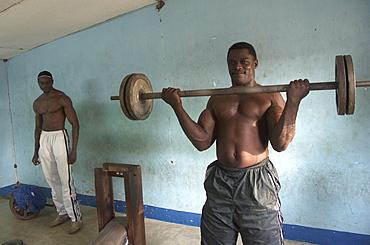 Weight lifter, tanzania. Musoma