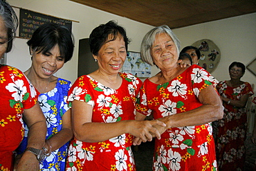 Philippines women dancing. Bagong silangan, quezon city, manila