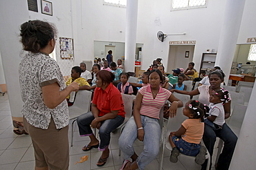 Jamaica. Waiting room in clinic at montego bay