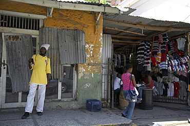 Jamaica. Shops in downtown montego bay