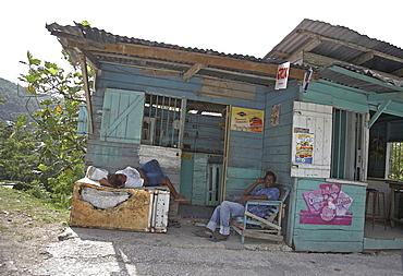 Jamaica. Small shop outside montego bay