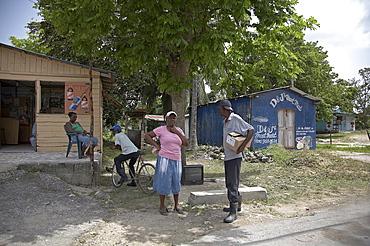 Jamaica. Small rural shop at montego bay