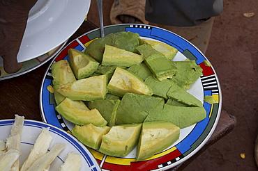 Uganda typical foods of the country. avocado. kayunga district