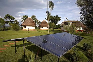 Uganda the haven resort near jinja. solar electric cells