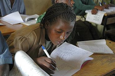 Education, ethiopia. A rural elementary school run by the catholic church in the village of grabafila