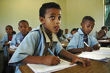 Education, ethiopia. Elementary school at meki