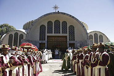 Ethiopia festivities in front of saint mary of zion church, axum