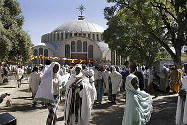 Ethiopia the maryam feast, feast of mary, at axum. Exterior of the church of saint mary of zion