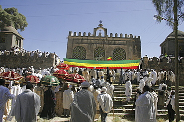 Ethiopia the maryam feast, feast of mary, at axum. The old church of saint mary of zion