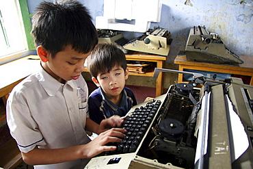 Vietnam children of blind school, phuxuyen