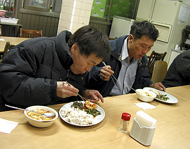 Korea - soup kitchen for homeless people, seoul