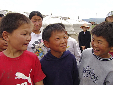 Mongolia boys at at the don bosco youth center, for street children and orphans, ulaan baatar